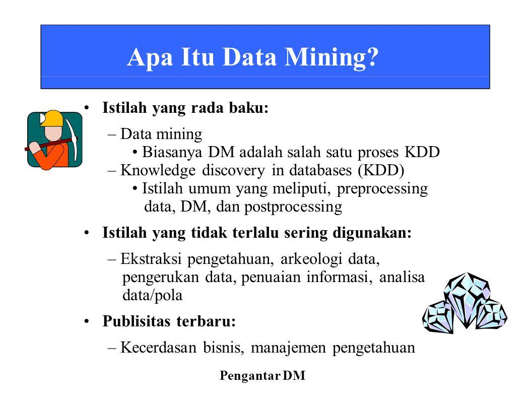 • Istilah yang rada baku: – Data mining