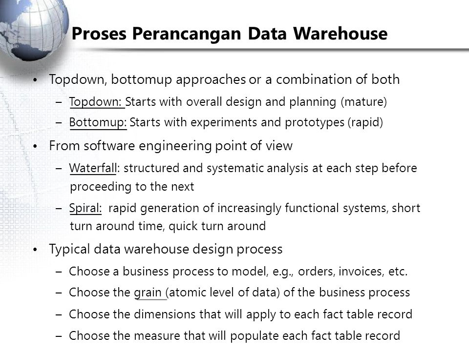 Proses Perancangan Data Warehouse