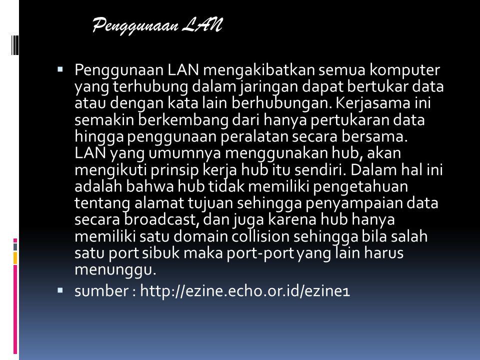 Penggunaan LAN