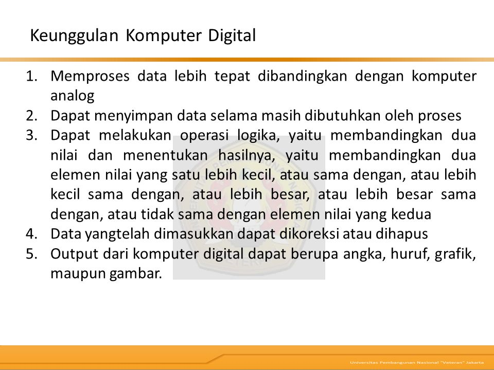 Keunggulan Komputer Digital