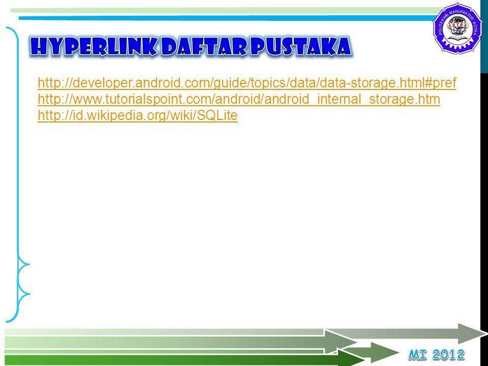 Hyperlink Daftar pustaka