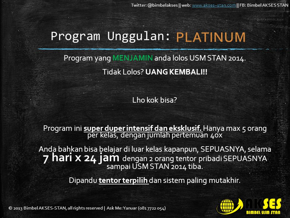 PLATINUM Program Unggulan: