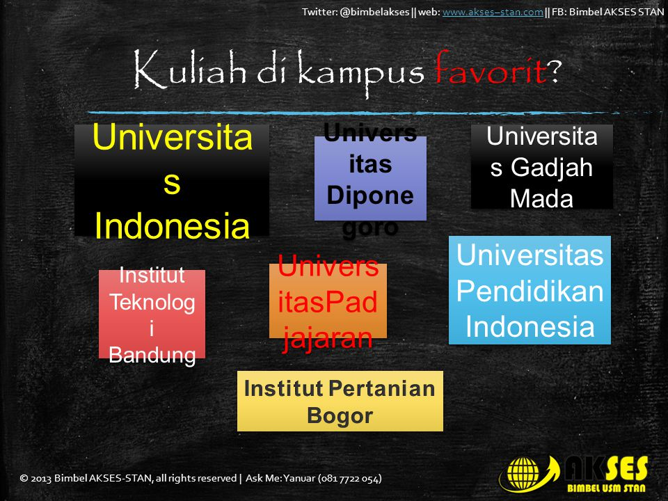 Kuliah di kampus favorit