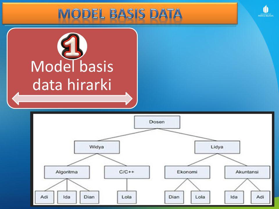 Model basis data hirarki