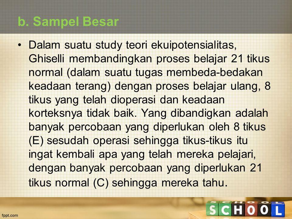 b. Sampel Besar