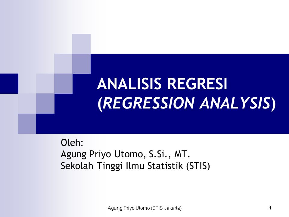 ANALISIS REGRESI (REGRESSION ANALYSIS)