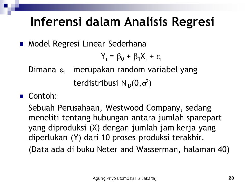 Inferensi dalam Analisis Regresi