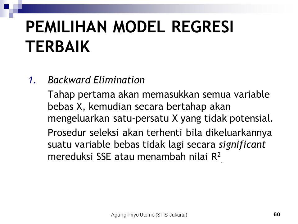 PEMILIHAN MODEL REGRESI TERBAIK
