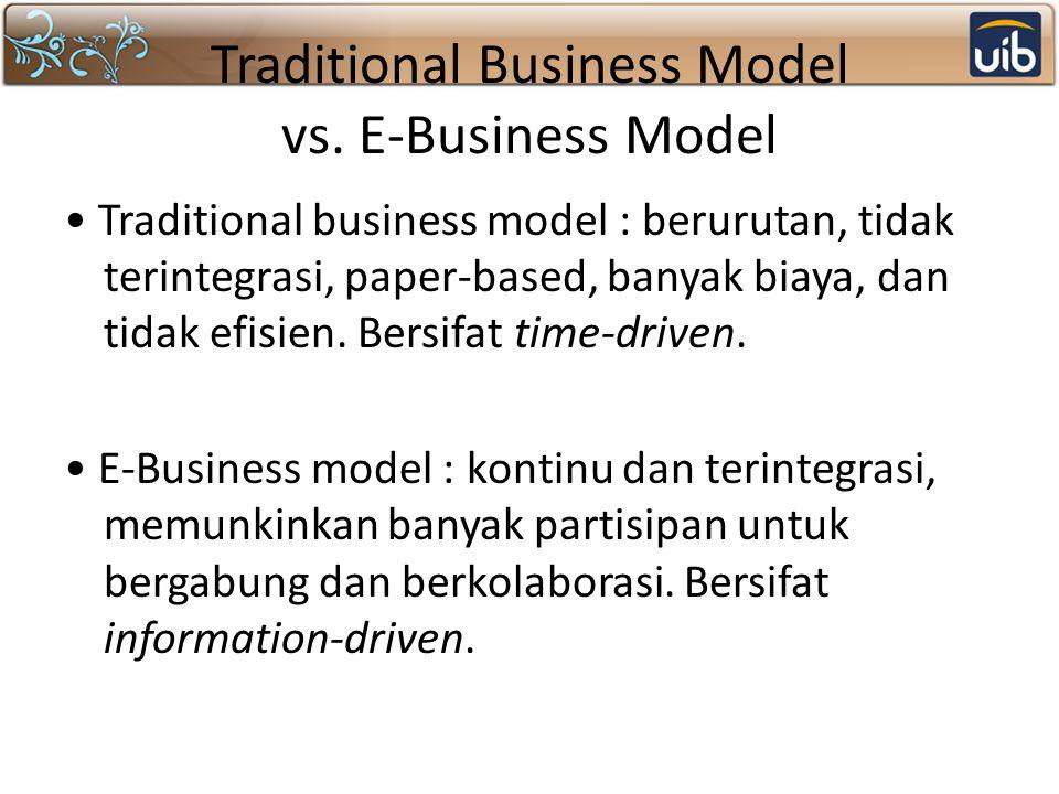 Traditional Business Model vs. E-Business Model