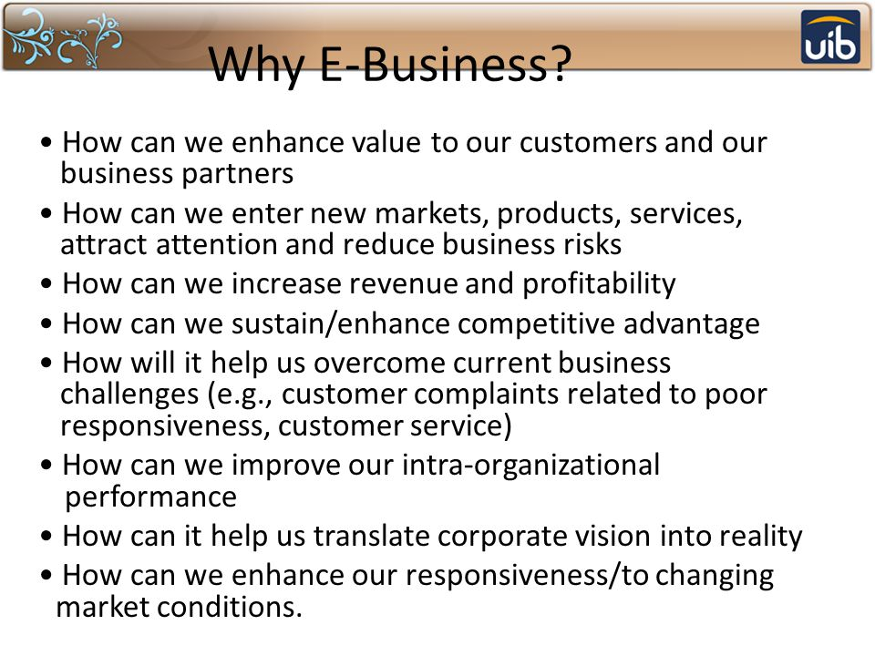 Why E-Business