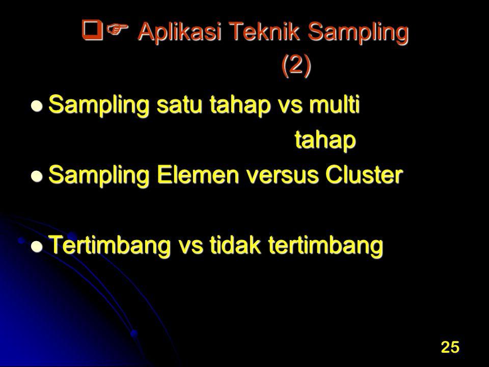  Aplikasi Teknik Sampling (2)