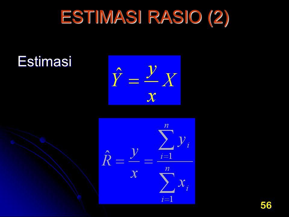 ESTIMASI RASIO (2) Estimasi