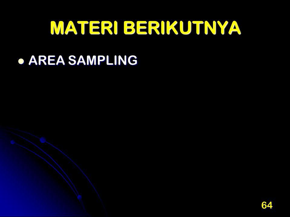 MATERI BERIKUTNYA AREA SAMPLING