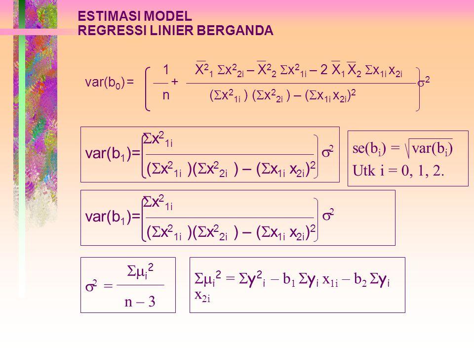 i2 = y2i – b1 yi x1i – b2 yi x2i