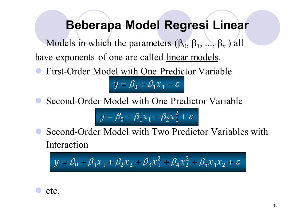 Beberapa Model Regresi Linear