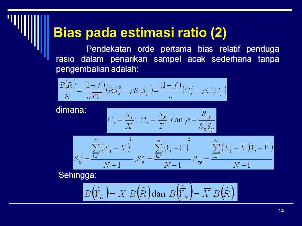 Bias pada estimasi ratio (2)