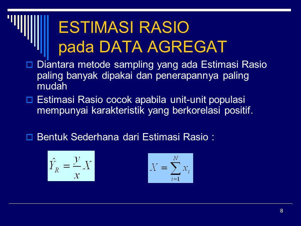 ESTIMASI RASIO pada DATA AGREGAT