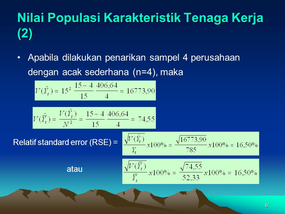 Nilai Populasi Karakteristik Tenaga Kerja (2)