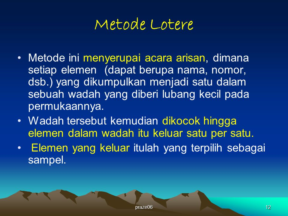 Metode Lotere