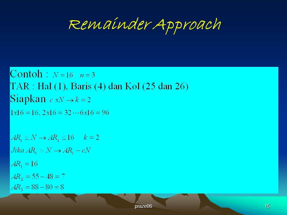 Remainder Approach praze06