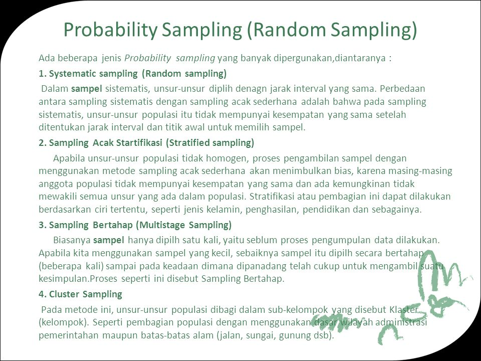 Probability Sampling (Random Sampling)