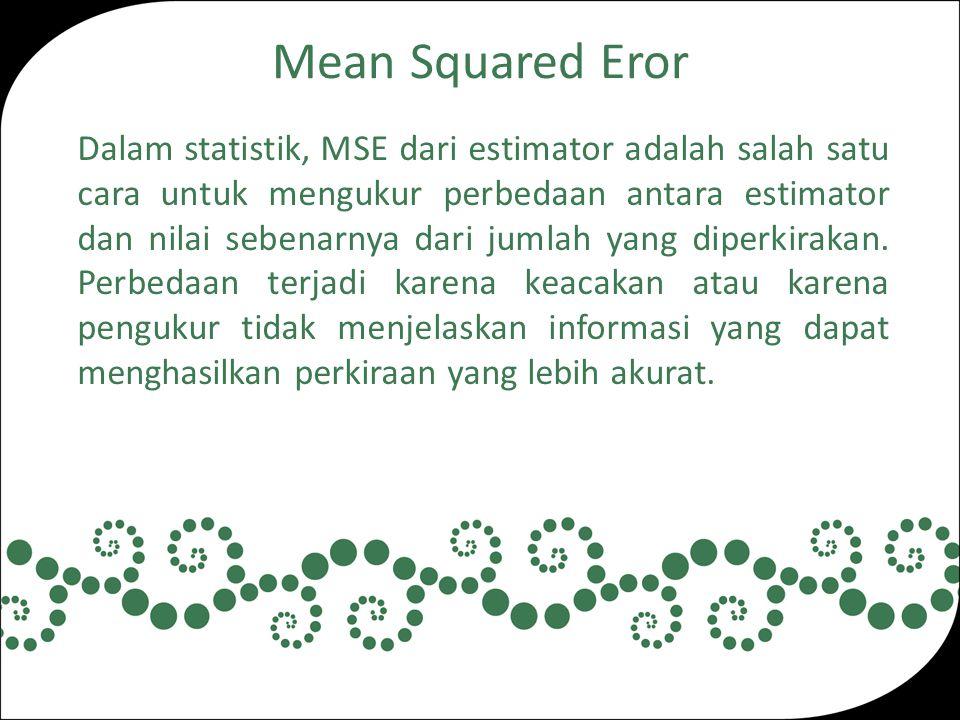 Mean Squared Eror
