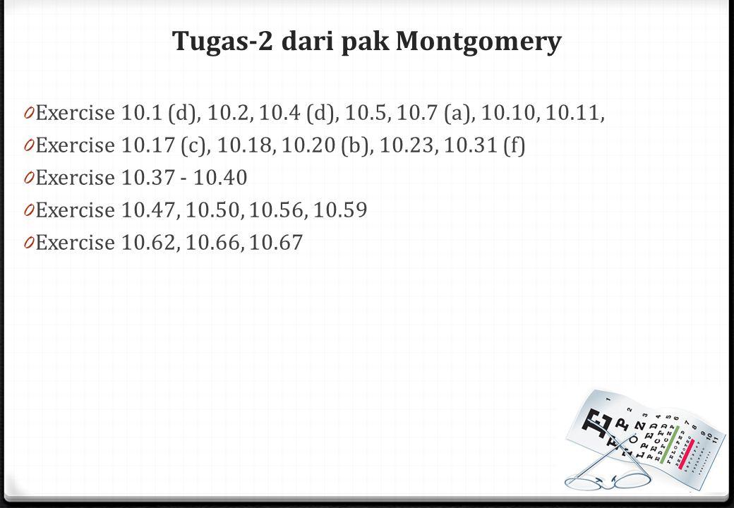 Tugas-2 dari pak Montgomery