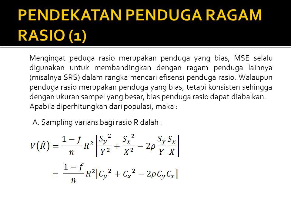 PENDEKATAN PENDUGA RAGAM RASIO (1)