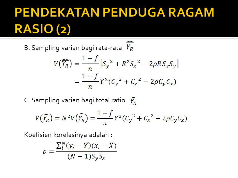 PENDEKATAN PENDUGA RAGAM RASIO (2)