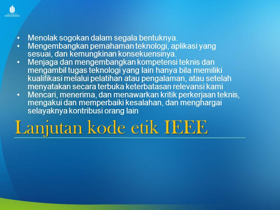 Lanjutan kode etik IEEE