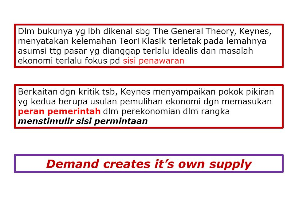 Demand creates it's own supply