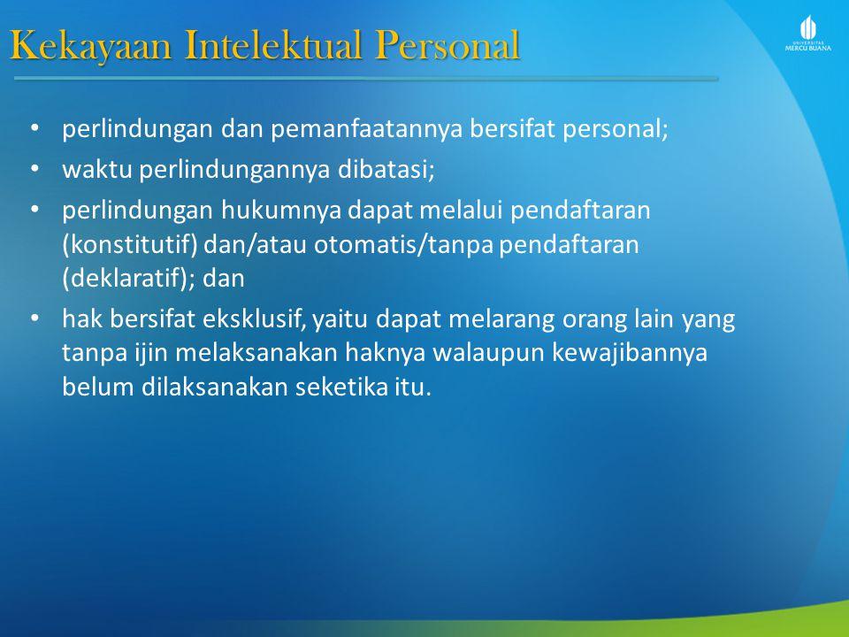 Kekayaan Intelektual Personal