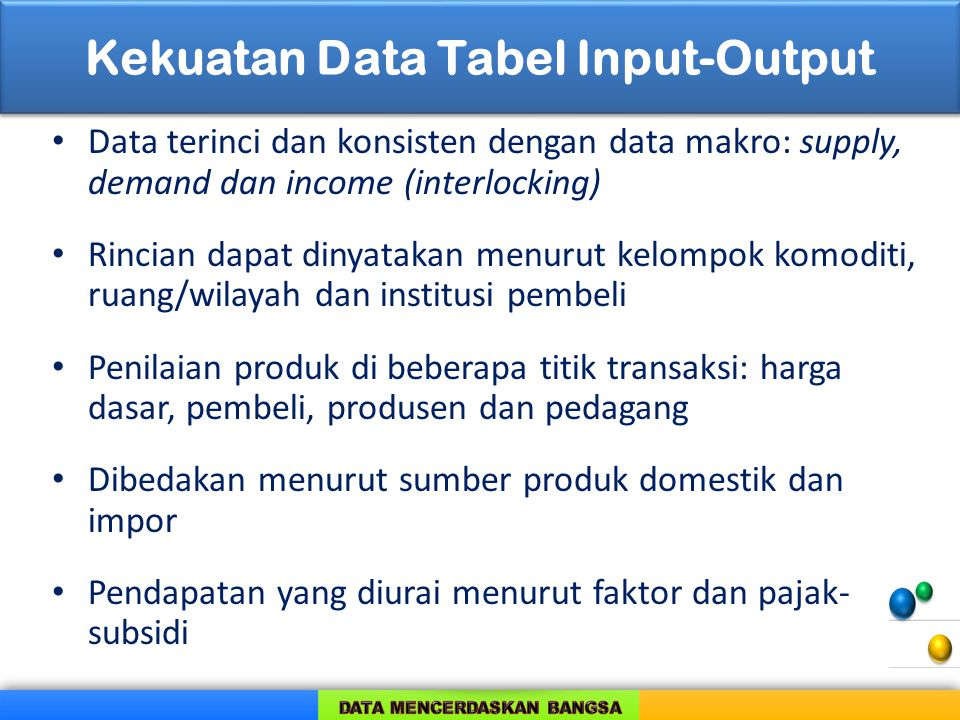 Kekuatan Data Tabel Input-Output