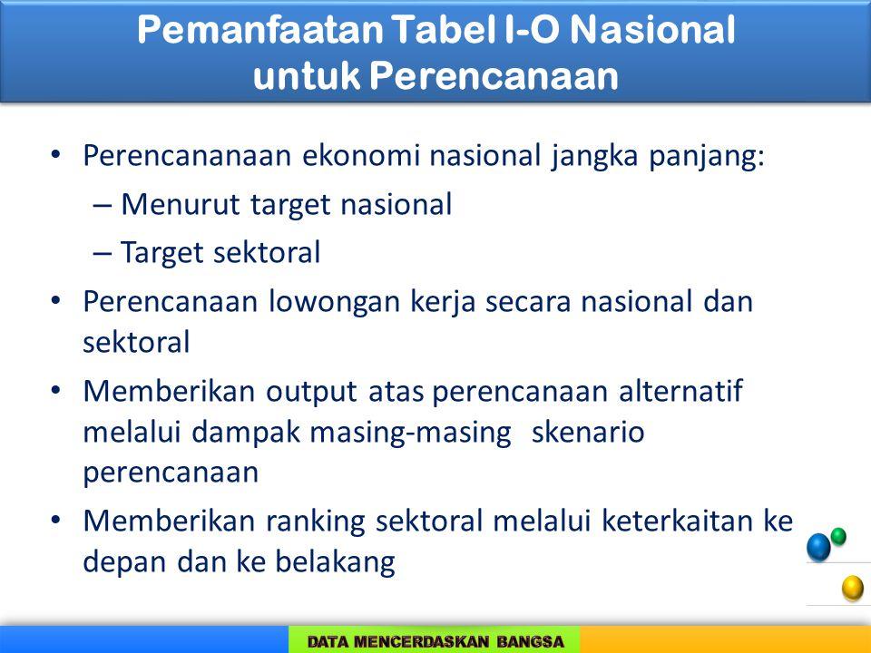 Pemanfaatan Tabel I-O Nasional untuk Perencanaan