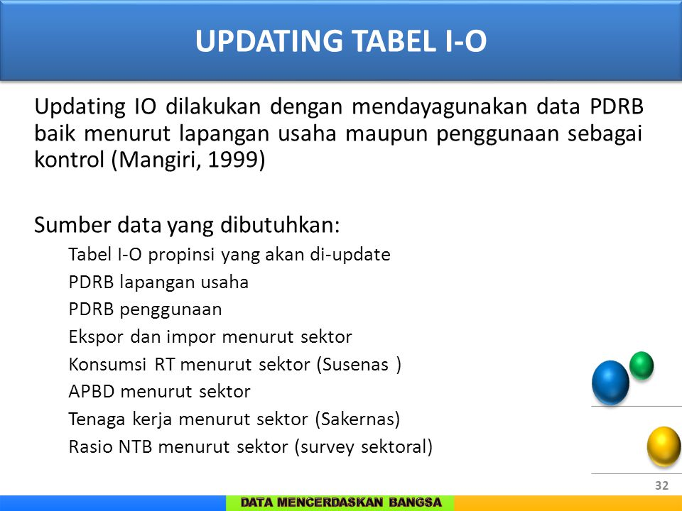 UPDATING TABEL I-O