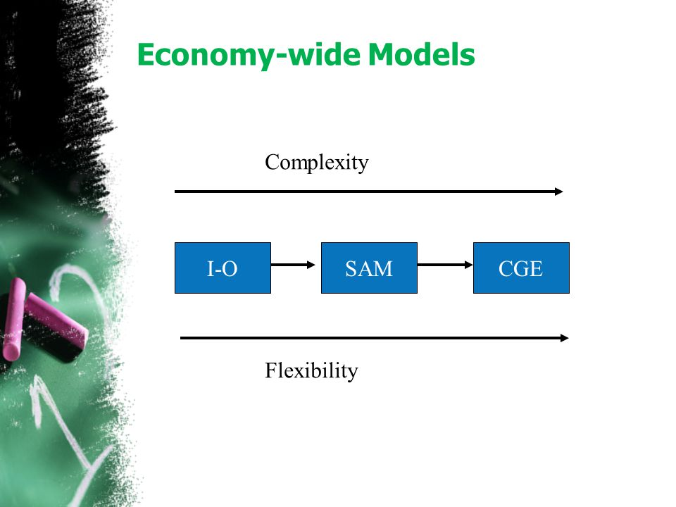 Economy-wide Models Complexity I-O SAM CGE Flexibility