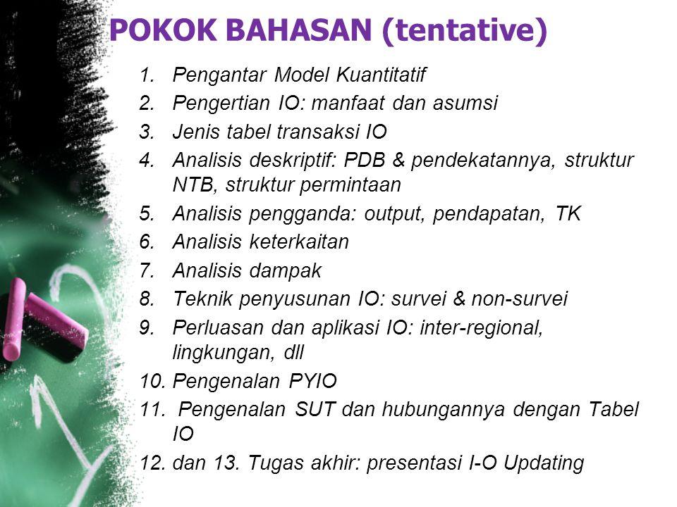 POKOK BAHASAN (tentative)