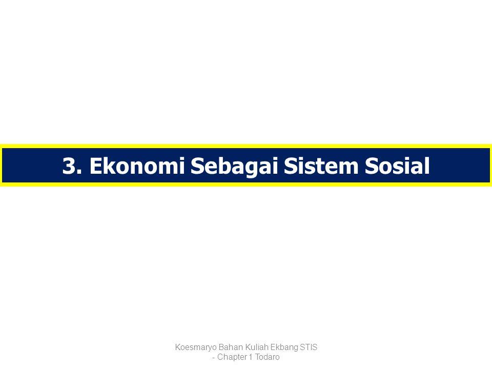 3. Ekonomi Sebagai Sistem Sosial