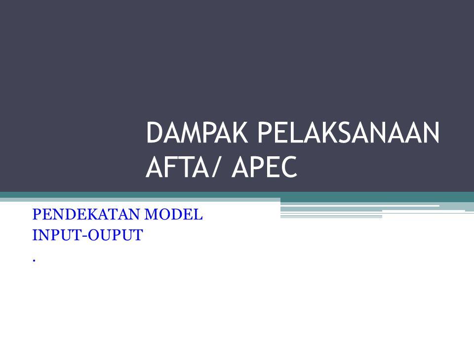 DAMPAK PELAKSANAAN AFTA/ APEC