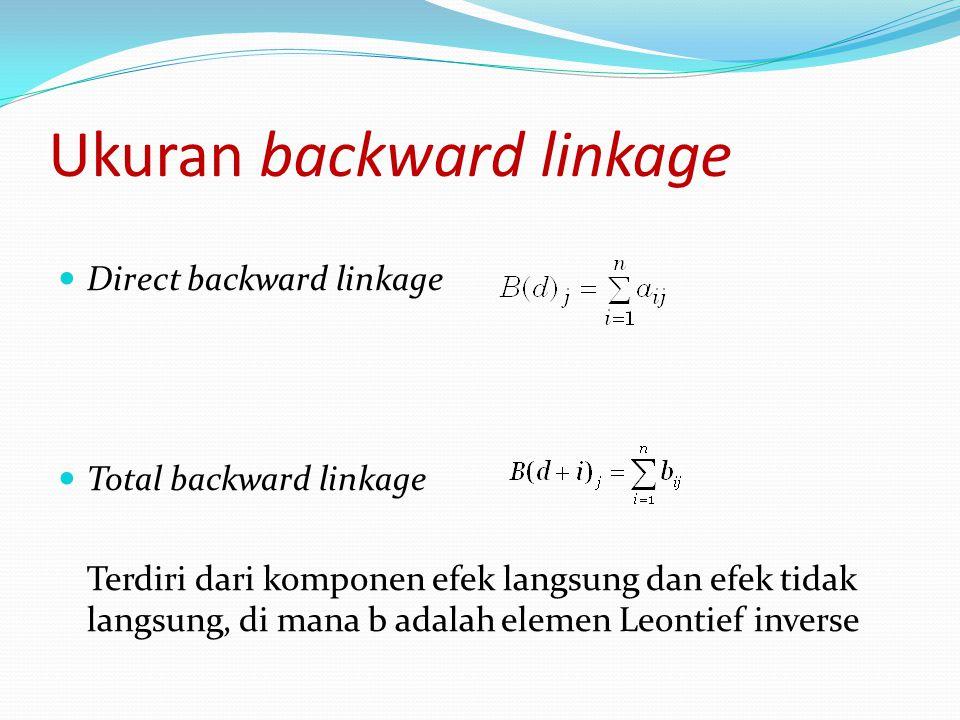 Ukuran backward linkage