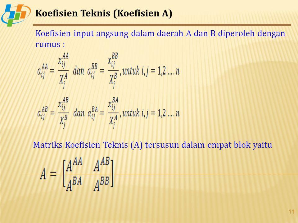 Koefisien Teknis (Koefisien A)