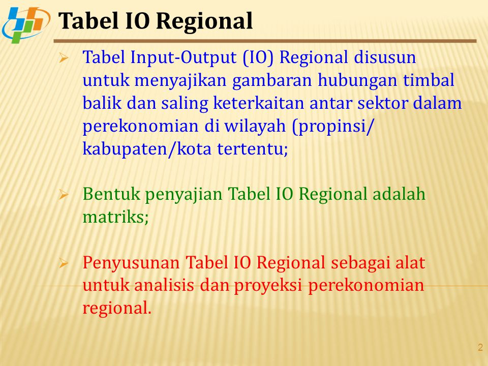 Tabel IO Regional