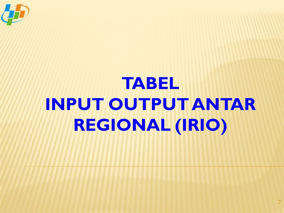 INPUT OUTPUT ANTAR REGIONAL (IRIO)
