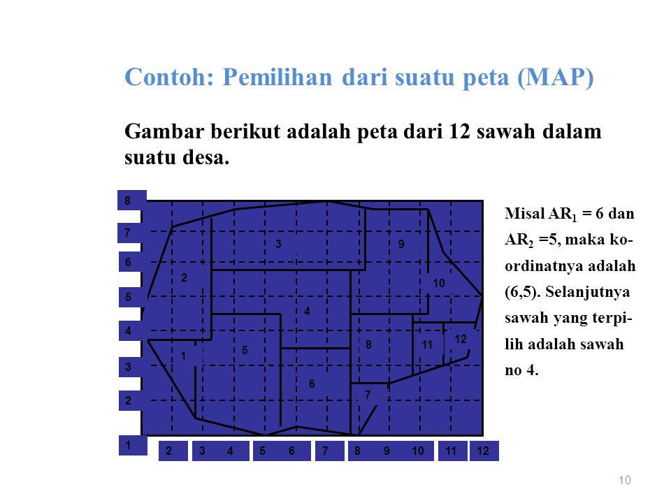 Contoh: Pemilihan dari suatu peta (MAP)