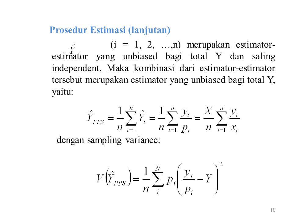 Prosedur Estimasi (lanjutan)