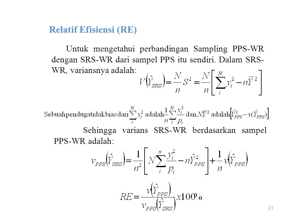 Relatif Efisiensi (RE)