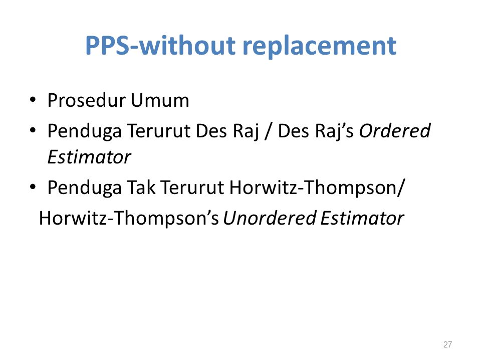 PPS-without replacement