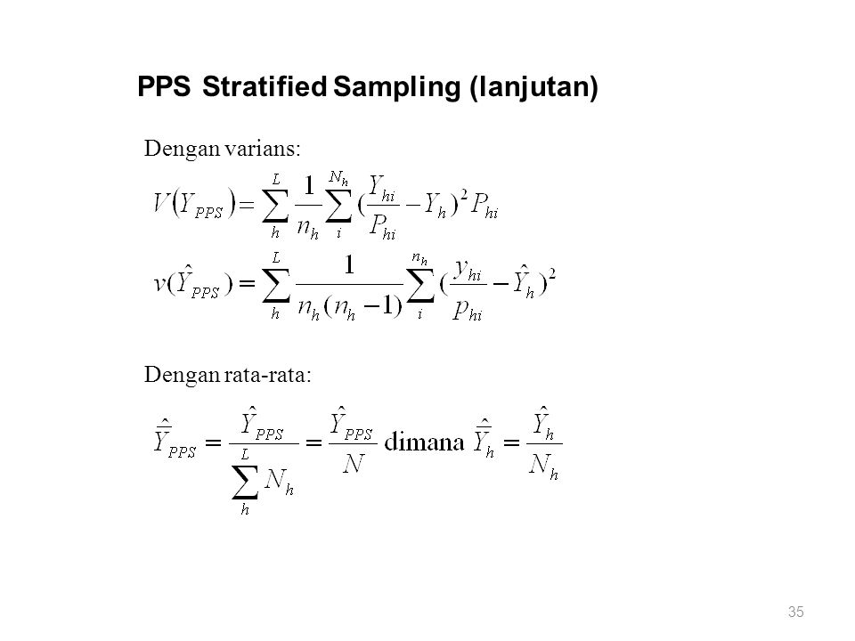 PPS Stratified Sampling (lanjutan)