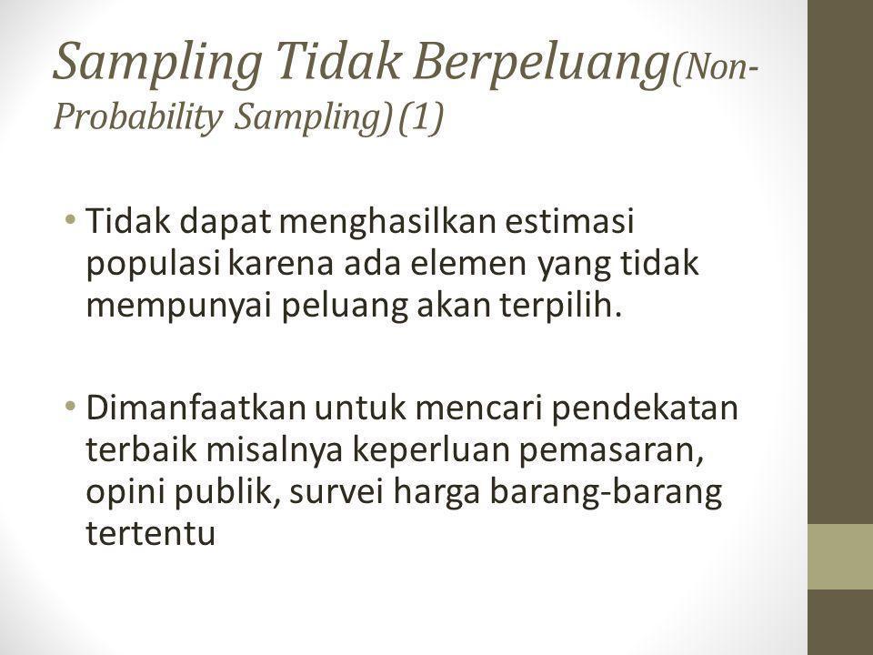 Sampling Tidak Berpeluang(Non-Probability Sampling) (1)