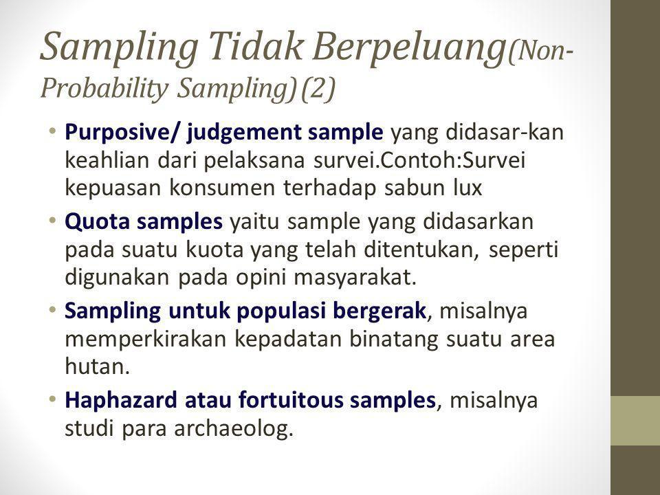 Sampling Tidak Berpeluang(Non-Probability Sampling) (2)